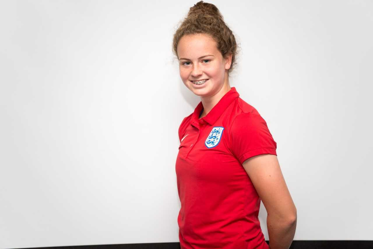 PROMISE: England Under-19 footballer Emily Syme. Pic: The FA/Wonderhatch