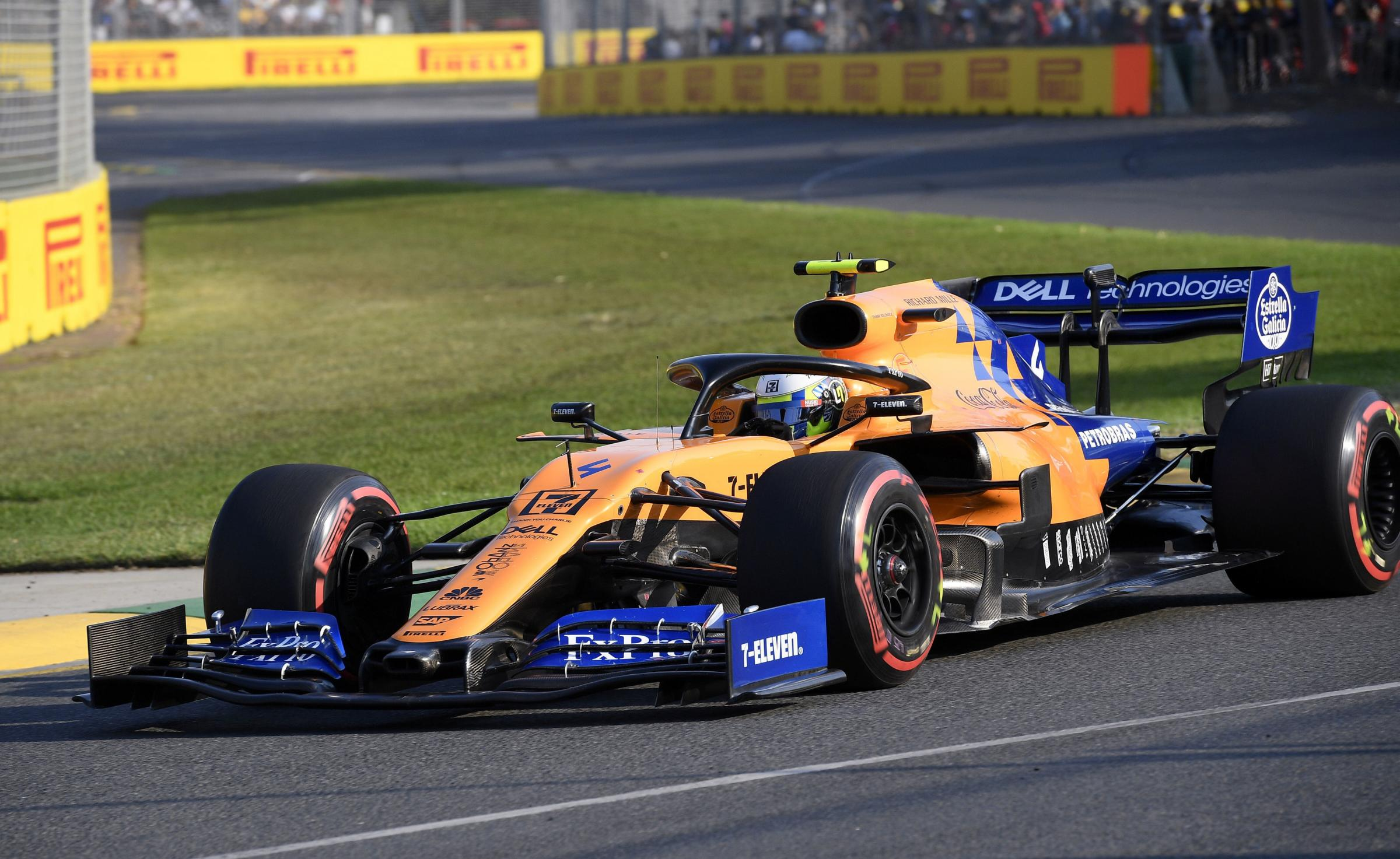 McLaren driver Lando Norris of Britain goes through a corner during qualifying for the Australian Grand Prix in Melbourne, Australia, Saturday, March 16, 2019. The first race of the year is Sunday. (AP Photo/Andy Brownbill).