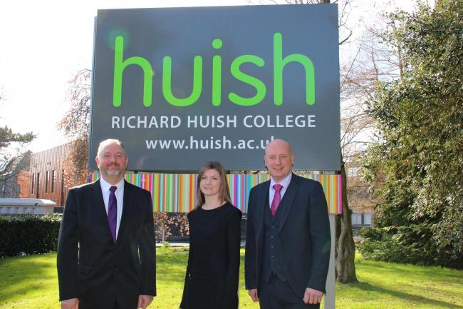 NEW APPOINTMENT: Rhian Locker with Mike Snowden and John Abbott