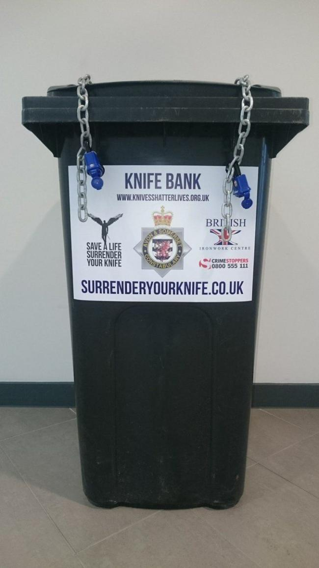CONCERN: One of the knife amnesty bins