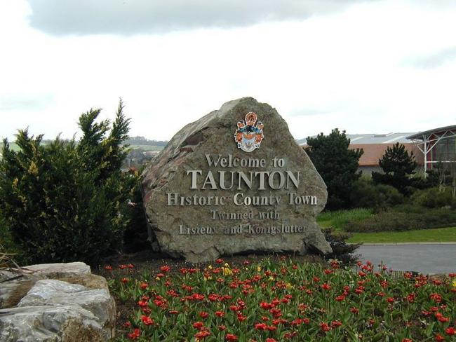 SIGN OF THE TIMES: The welcome to Taunton sign
