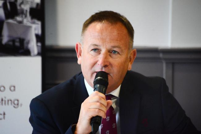 Somerset County Cricket Club media day - press conference. CEO Andrew Cornish. Pic: Steve Richardson.