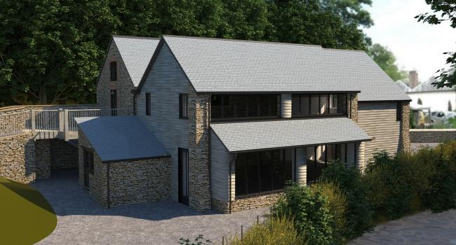 CHANGES: How the Dunster Water Mill Tea Room could look with its new two storey extension in place