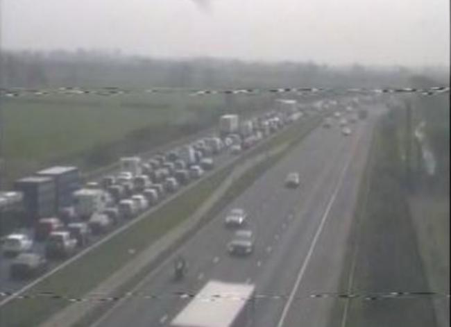 CRASH: M5 blocked after crash, with police, fire and ambulances on