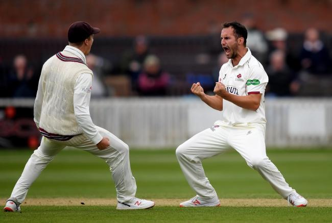 WELL BOWLED: Lewis Gregory Pic: Alex Davidson/SCCC