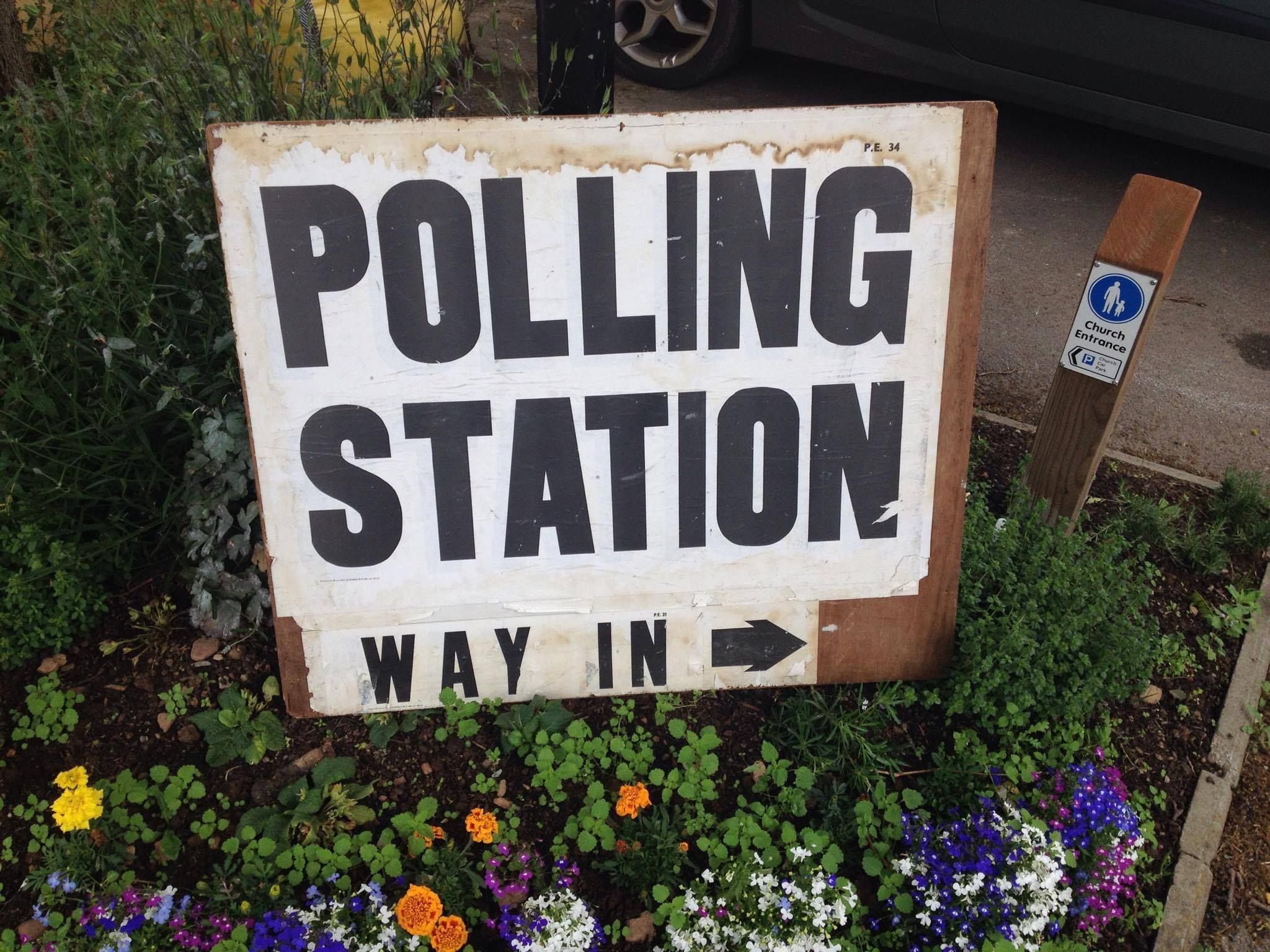 VOTE: A polling station in Taunton
