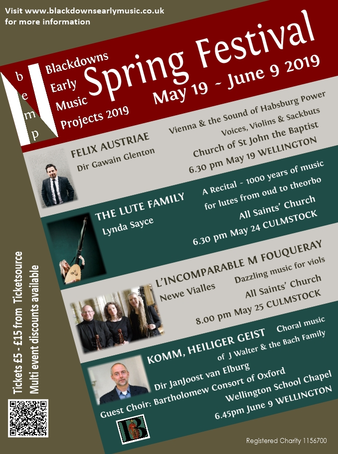 Blackdowns Early Music Projects: SPRING FESTIVAL
