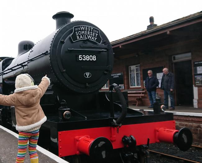 FULL STEAM AHEAD: At the West Somerset Railway