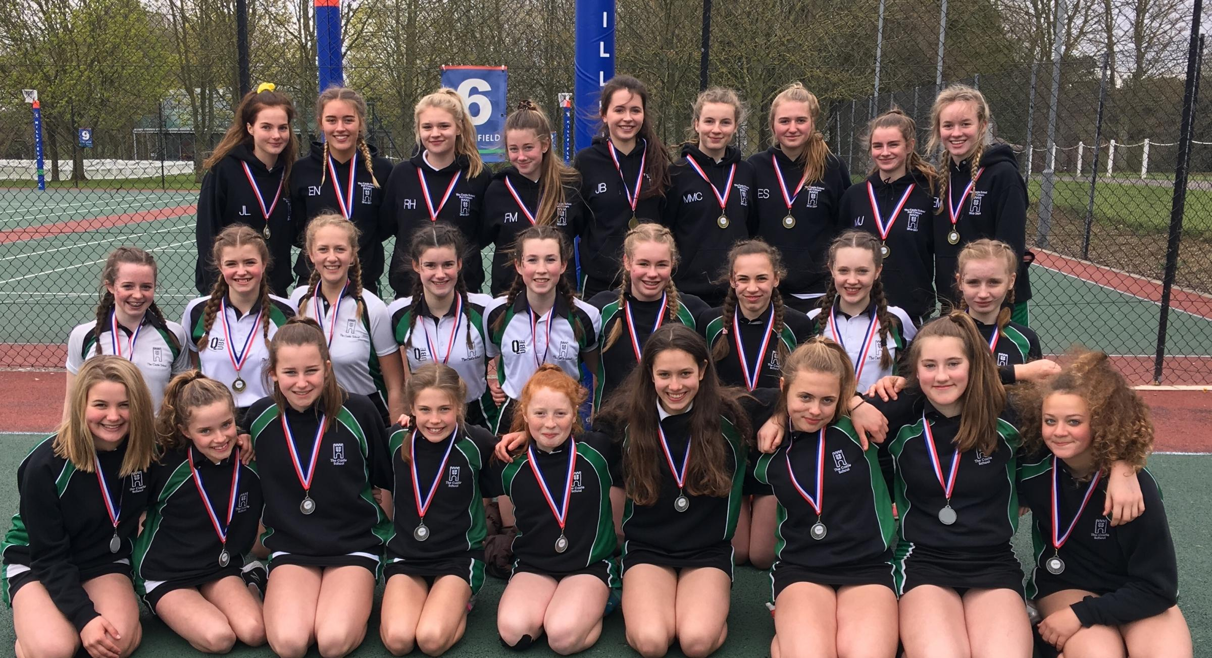 THE INVINCIBLES: Castle School netballers at Millfield