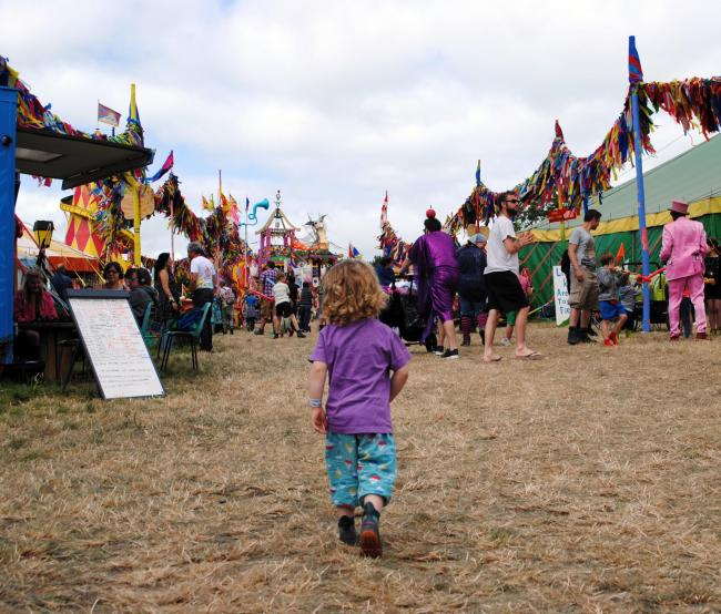 OFF INTO ADVENTURE: The Glastonbury Festival Kidzfield. PICTURE: Paul Jones