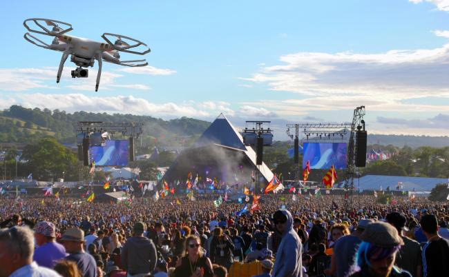 BANNED: Drones will not be permitted to fly over the Glastonbury Festival