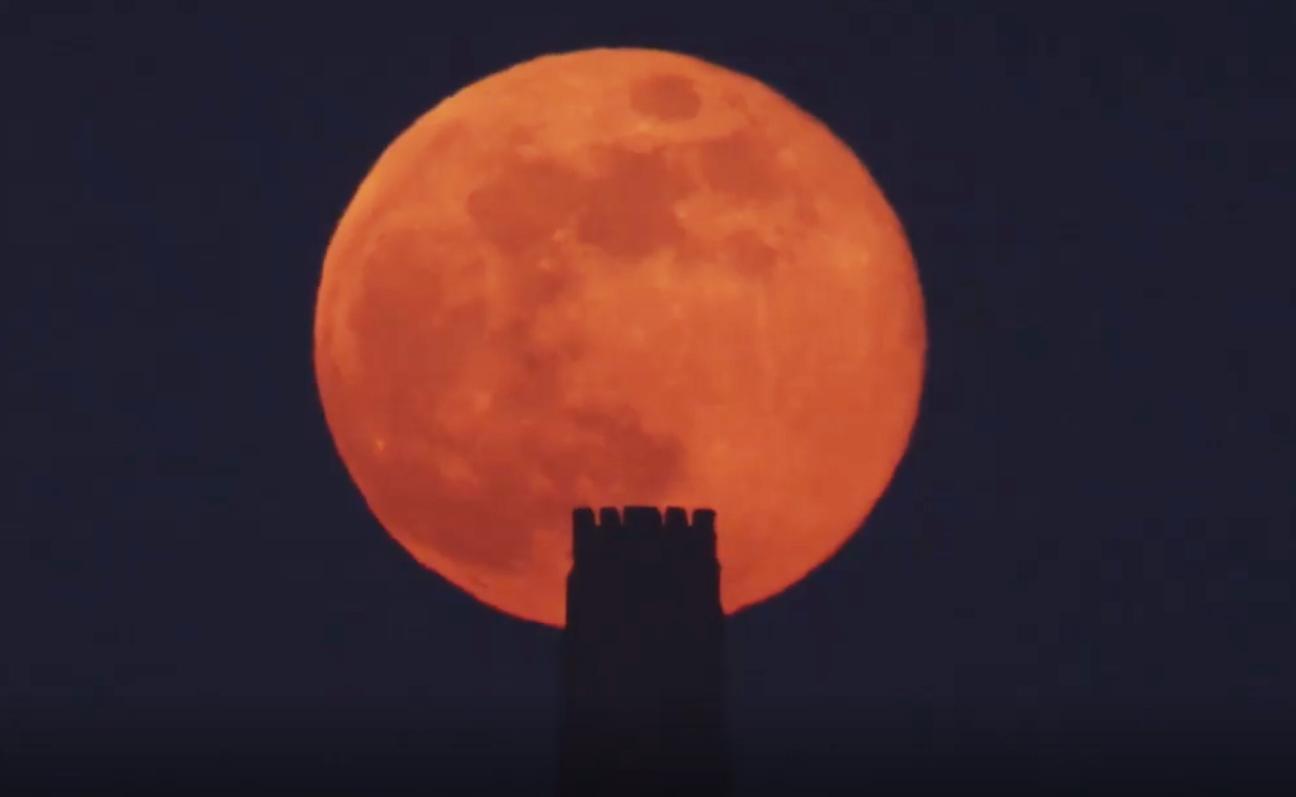 WATCH: Stunning video shows moon rising over Glastonbury Tor