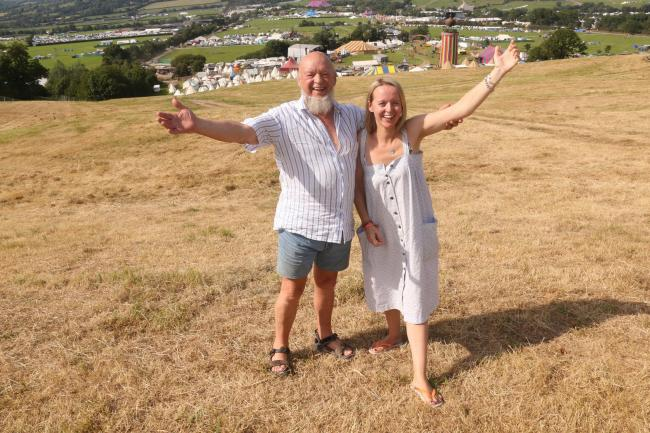 FROM ONE SHOW TO ANOTHER...: Michael and Emily Eavis. PICTURE: Jason Bryant
