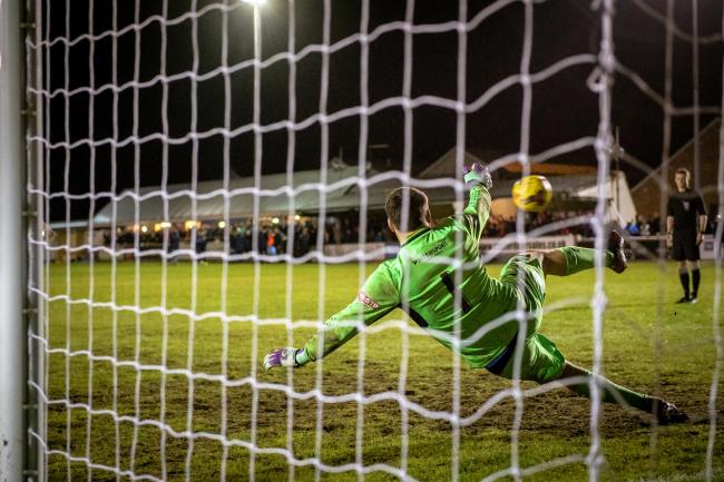 SO CLOSE: It was a night of fine margins for Taunton Town. Pic: Clayton Jane