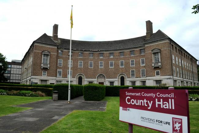 COUNTY HALL: HQ of Somerset County Council, Debra Howe's employer