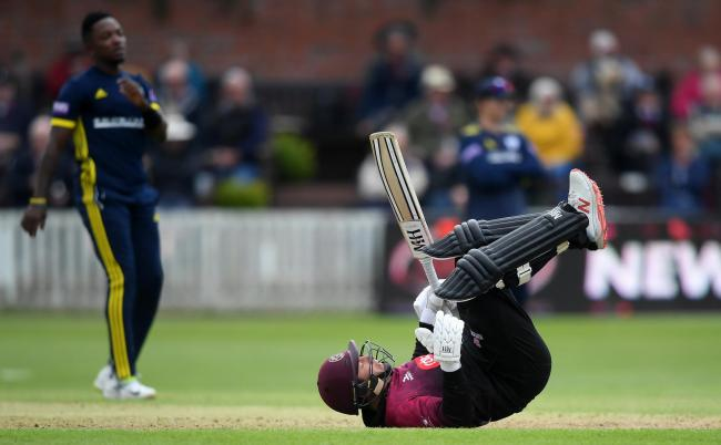 LOSING RUN: Somerset are on the hunt for a victory against Surrey tomorrow, after three defeats. Pic: Alex Davidson/SCCC