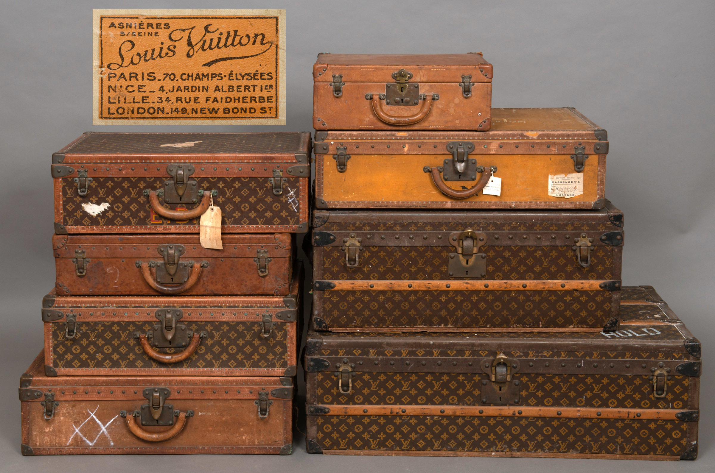 AUCTION: Remarkable collection of vintage Louis Vuitton luggage to be sold by Lawrences of Crewkerne