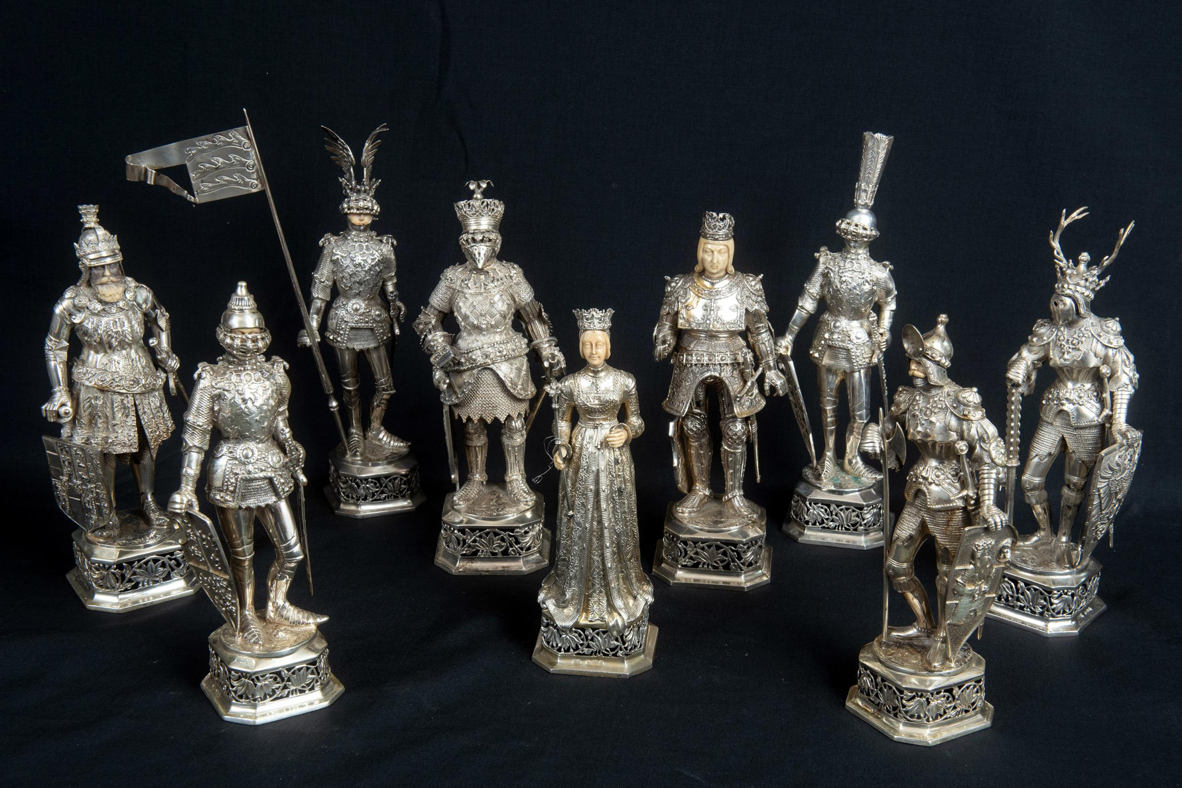 KNIGHTS SOLD: This superb single vendor collection of silver Teutonic knights collectively sold for £8,450