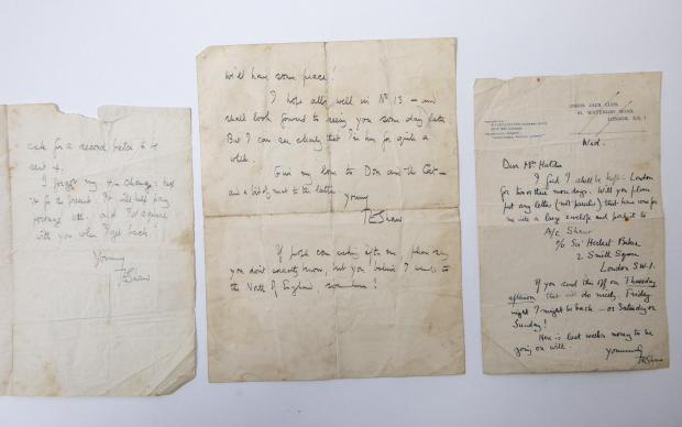 Somerset County Gazette: PERSONAL: Hand-written and signed letters, (estimates: £3,000-5,000) written by T.E. Lawrence (Lawrence of Arabia) to be sold by Great Western Auctions. Picture: SWNS