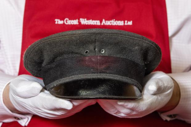 Somerset County Gazette: HISTORIC: The Royal Airforce Cap (estimate: £10,000-15,000) belonging to T.E. Lawrence (Lawrence of Arabia) to be sold by Great Western Auctions. Picture: SWNS