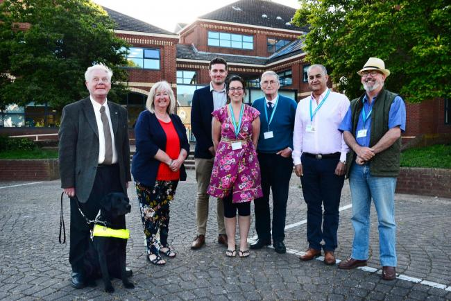 NEW ERA: Council leader Federica Smith-Roberts and members of her executive committee