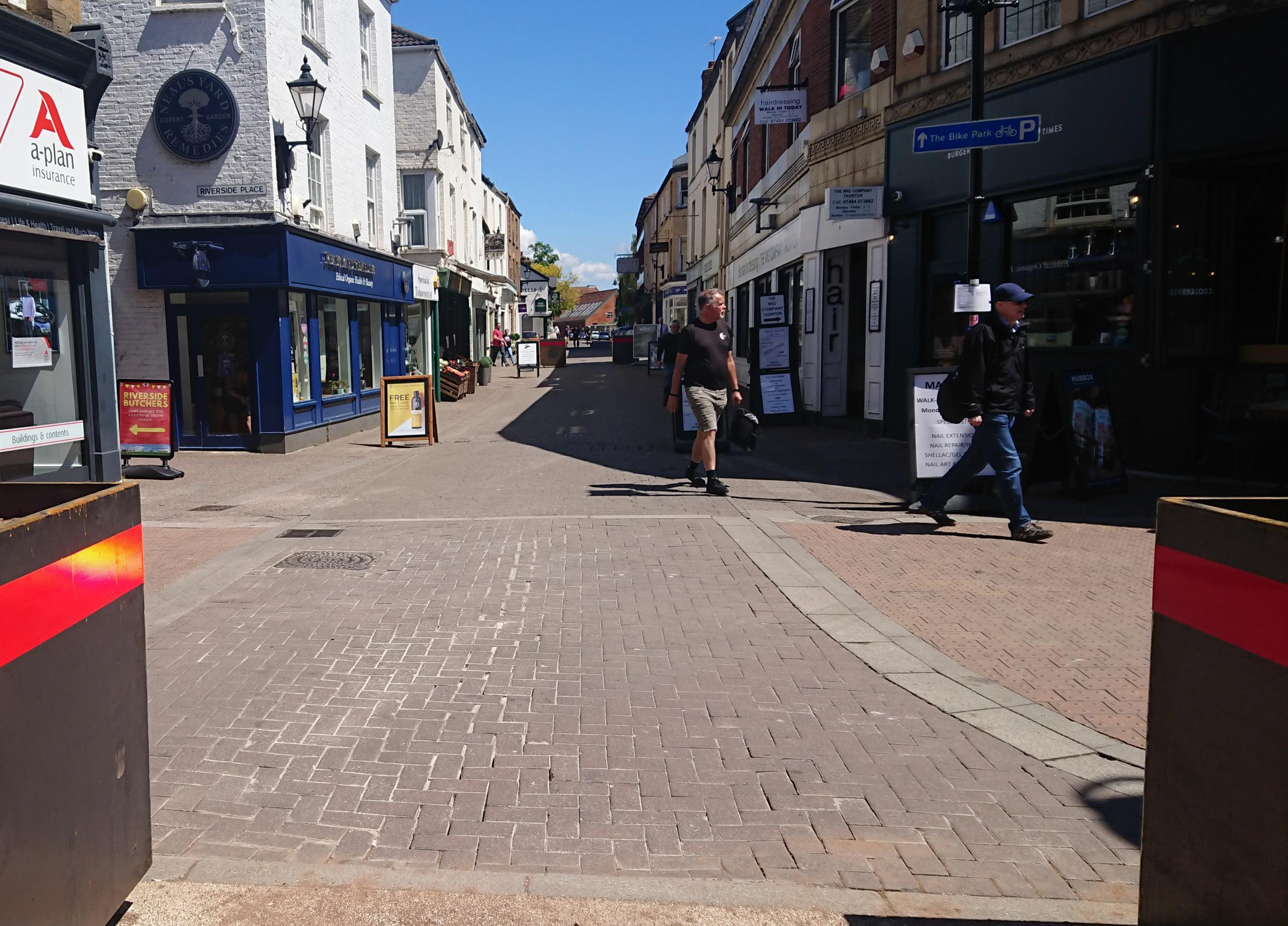 LETTER: '10-minute delay is small price to pay for a nice town centre' in Taunton