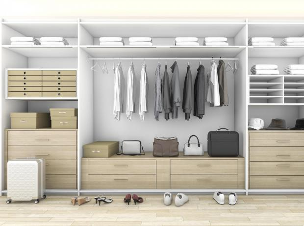 Somerset County Gazette: GREAT SPACE: A closet wall used well. Picture: iStock/PA