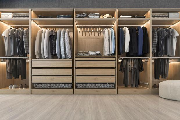 Somerset County Gazette: BEAUTIFULLY ARRANGED: A closet wall. Picture: iStock/PA