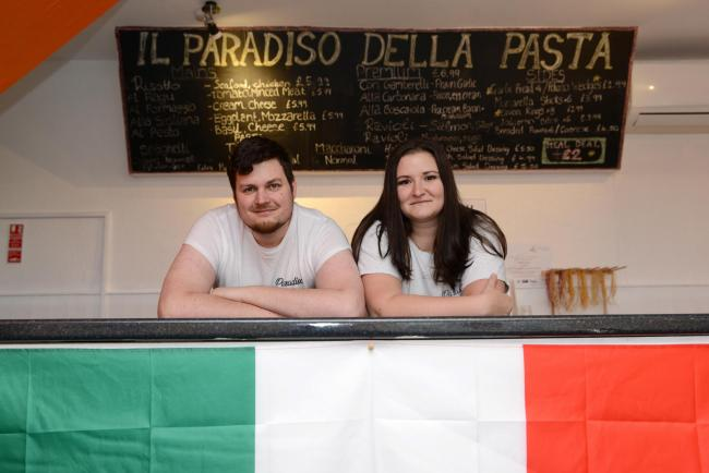 Meet the Chef: Pictured Tamas Toth and Dorottya Riedel at Il Paradiso Della Pasta in St James Street, Taunton