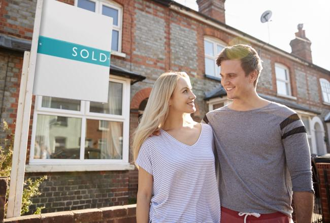 EXCITED: A couple in the process of buying a new home. Picture: iStock/PA