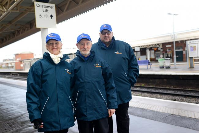 VOLUNTEERS: Sue Burr, Mike Newberry and Adrian Prior-Sankey at last year's launch of Taunton Rail Responders