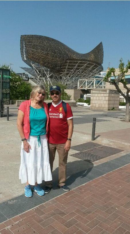 INSULTED: Liverpool fan Mo Ghafar and his wife, Betty